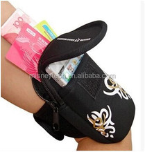 Colorful mobile phone elastic arm band arm bag