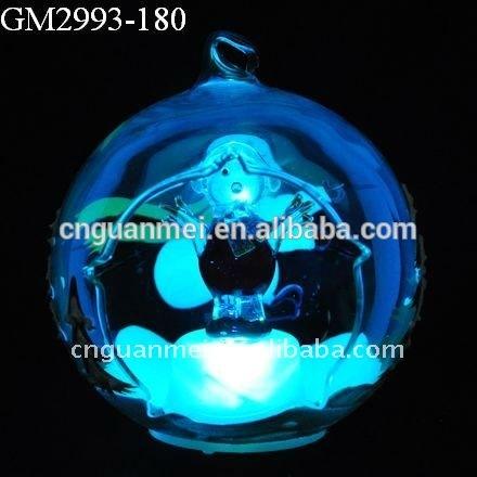 Откройте переднюю стекло снежный ком из светодиодов блесна подсветкой стеклянный шар