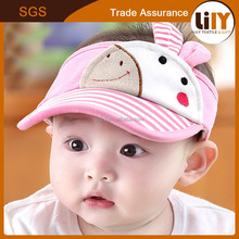 2015 Wholesale Animal Printing Visor Baby Sun Hat With Rabbit Ears