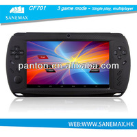 RK3188 1.6GHZ Quad Core handheld android game console 7.0 inch 1G+8GB 1024*600 pixel Android 4.2.2 video game consoles