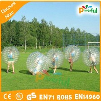 high quality human sized soccer bubble ball,loopyball/bubble soccer for sale