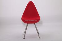 Living room/dining room furniture designer chair replica Arne Jacobsen drop chair