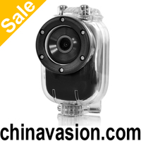 Wi-Fi 1080p HD Sports Camera with Android and iOS APP, Wide Angle Lens, Waterproof Case