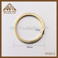 Fashion metal blank keyrings wholesale