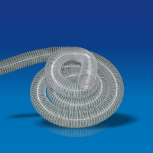 Plastic pvc coated steel wire corrugated air pipe