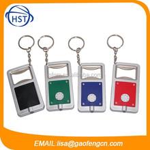 Rectangle shaped plastic Promotion LED Keychain Light