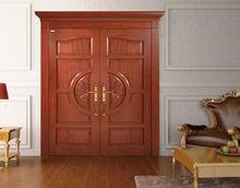 กว่างโจวแกว่งคู่รายการไม้ประตูภายในประตูไม้ที่เป็นของแข็ง