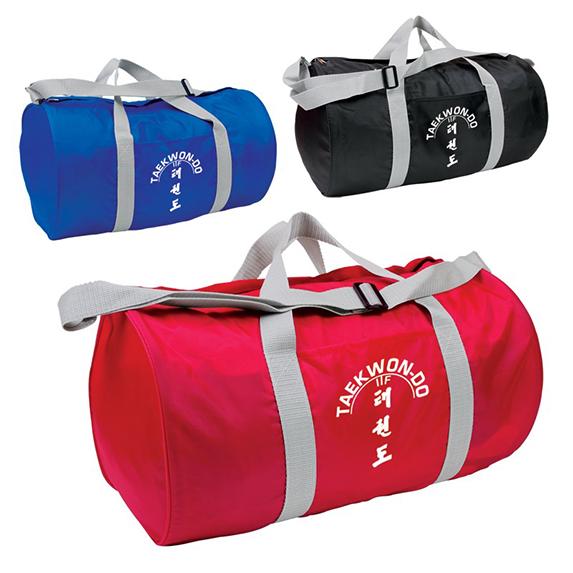 Eğlence yuvarlak sağlam polyester düz sprot duffel çanta