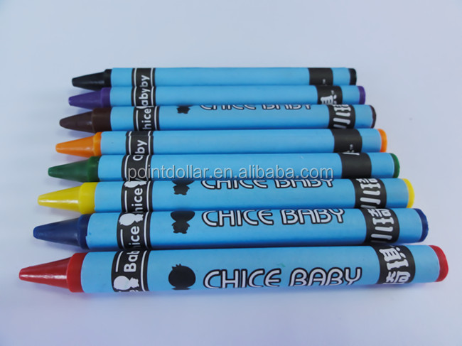 custom colors non toxic wax crayon with packing box