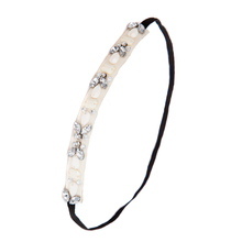 Professional factory directly wholesale 2015 new hot fashion pretty crystal stone elastic hair band