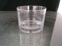 cheap clear machine made glass cylinder for wax