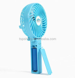 Handheld portable HF308 18650 lithium Battery Operated mini usb rechargeable fan with LED Light