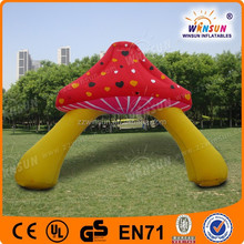 US & CE Oxford lovely mushroom inflatable gate for party or park