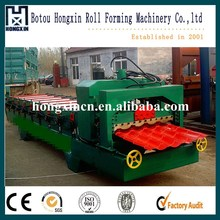 Glazed Tile Galvanized Roof Shingles Roll Forming Machine