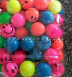 high bouncy smile face rubber bouncing ball 27mm,32mm, expression ball