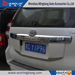 Top quality 2014 Toyota Land Cruiser Prado ABS chrome Car Tailgate tail gate rear door moulding trim bar