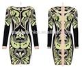 2015 geométricas padrão jacquard de alta qualidade para o vestido da dama de honra vestido mãe