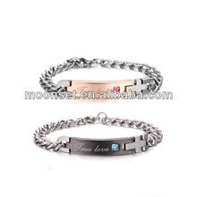 titanium steel allergy a birthday present stainless steel fashion magnetic bracelet