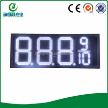 white color Led price sign for gas station