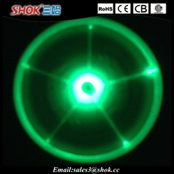 Promotional plastic led flashing frisbee flying frisbee