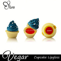 party decoration lips cupcake lipgloss 6pcs assorted