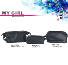 Wholesale top quality Latest designer MY GIRL soft black discount clear mini pvc cosmetic bag