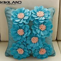 new design blue sofa pillow outdoor floral cushion covers