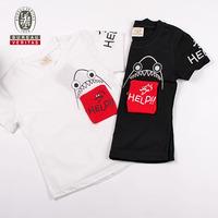 Boys clothing 2012 sharking tongue short sleeve t shirt design for children
