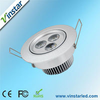 Super bright CE ROHS led ceiling light AC85 to 265v 240lm 3w flush mounted ceiling lamps
