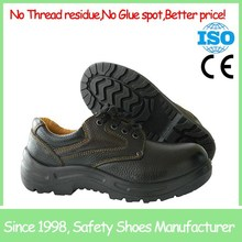 SF8138 Barton buffalo leather low cut black cheap safety shoes