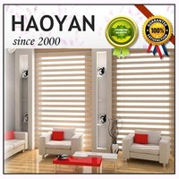 Haoyan double layer zebra vision roll up blinds