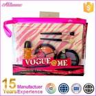 Meninas posto de conjunto de cosméticos 2 pouco circular palete de cosméticos em saco de PVC crianças make up set