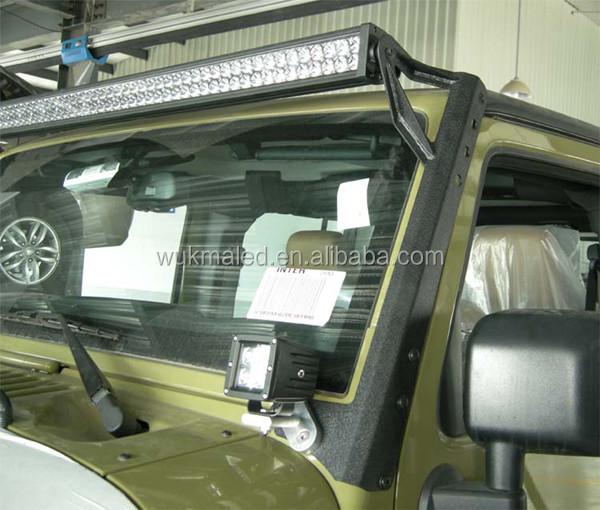 2014 steel windshield mounting brackets for 50 or 52 led lig. Black Bedroom Furniture Sets. Home Design Ideas