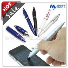 3 in 1 stylus pen drive for smartphone , ballpen , 1GB to 16GB custom Logo