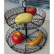 2 Tiers Wire Wedding Gift Fruit Basket Decoration