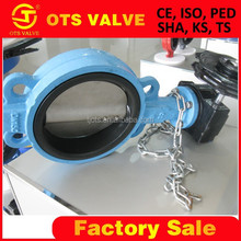 exhaust electric actuator/pneumatic wafer butterfly valves DN150 handles