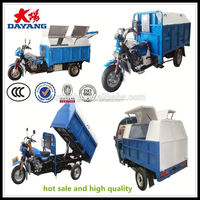 made in china 175cc 200cc 3 wheel garbage truck motor tricycle for sale in Angola
