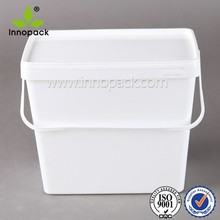 1 Gallon 3Gallon 9L Square Rectangle Food Grade Icecream Plastic Container with Lid for Food