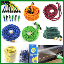 shipping cost china 50ft rubber water hose/no kink faucet retractable garden hose with plastic garden shed
