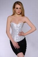 2015 High quality Brocade Overbust Jacquard Mature Women Sexy Lingerie corsets Corset