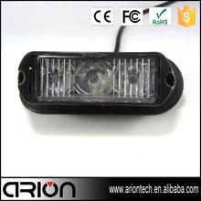 3 LED strobe warning light surface mount grille strobe light 3w
