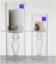 delicate long- stemmed glass candle holder wholesale