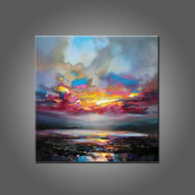 Wholesale Artist Design Night Landscape Oil Painting Handmade Landscape On Canvas