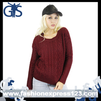 2015 Sweater Knitting machine in Winter Women Cable Pullover