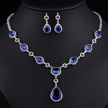 Factory Price Exquisite Necklace and Earring Multi Shape AAA+ Cubic Zircon Jewelry Sets