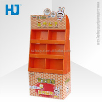 Durable Stackable Cardboard Display for Gloves , Corrugated Cardboard Floor Displays for Plant Seed