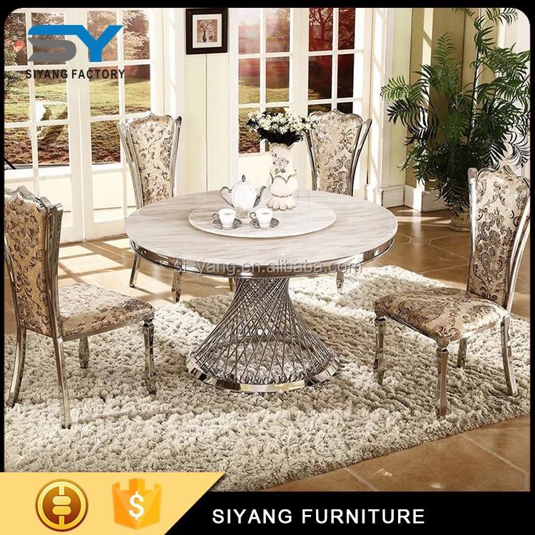 Не поцарапать обеденный стол и стулья, белый глянцевый обеденный стол, керамическая плитка топ обеденный стол CT007
