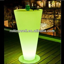 Fancy Iphone control factory direct sale color changing rechargeable make led table