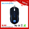 LED Light USB Optical 2400 DPI Wired Professional Gaming Mouse(Black)