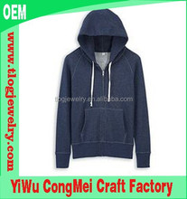 2015 high quality wholesale plain hoodies /plain thick hoodies slim fit